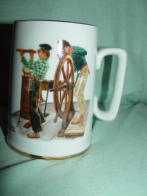 1985  The Norman Rockwell Museum,Inc River Pilot Coffee Cup