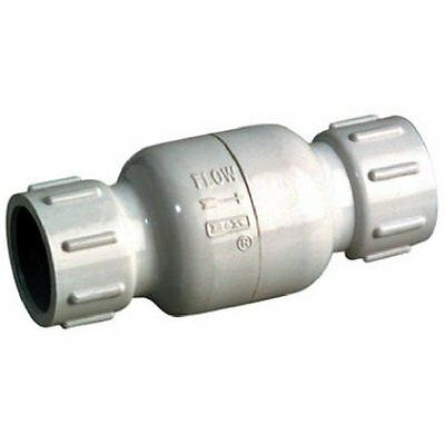 "ANVIL INTERNATIONAL 101-605 1"" White Schedule Solvent Weld 40 PVC Check Valve"