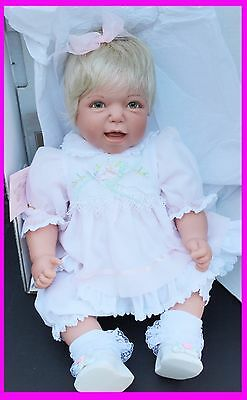 Lee Middleton Original Baby Real Doll Mommys Good Girl Lace Dress Signed Reva