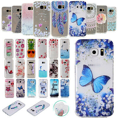 For Samsung Galaxy S8 Plus/S7 Clear Soft TPU Silicone Gel Skin Back Case Cover