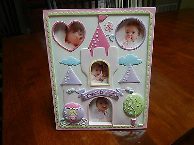 New Ceramic Collage Picture Frame - Baby Girl