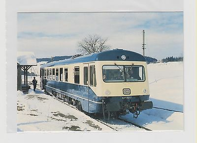*GERMANY        DB rail car at Hellengerst Station in 1982