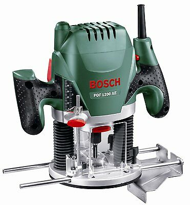 Bosch POF 1200 AE Router, adjustable speed, vacuum adaptor, clamping lever. NEW