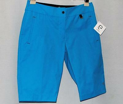 New Ladies Size 8 EP PRO Fast Track Tile Blue Bermuda golf shorts