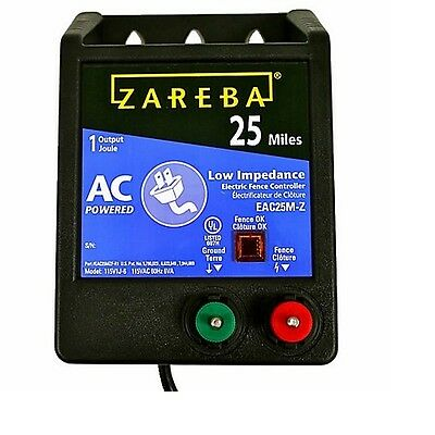 Zareba  25 Mile Range Fence Charger AC Powered Low-Impedance EAC25M-Z