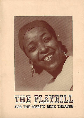 """Ethel Waters """"CABIN IN THE SKY"""" Todd Duncan / Katherine Dunham 1941 Playbill"""