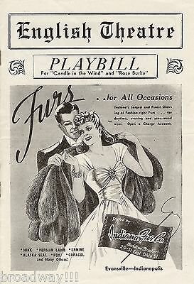"""Helen Hayes """"CANDLE IN THE WIND"""" Lotte Lenya / Maxwell Anderson 1942 Playbill"""