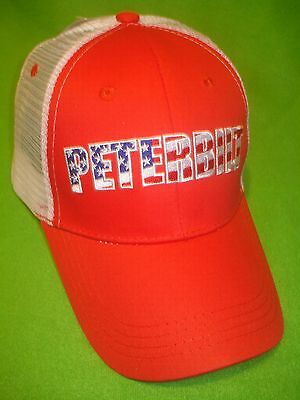 Peterbilt Hat:       Stars & Stripes  /  Summer Mesh Back / Free Shipping In Usa