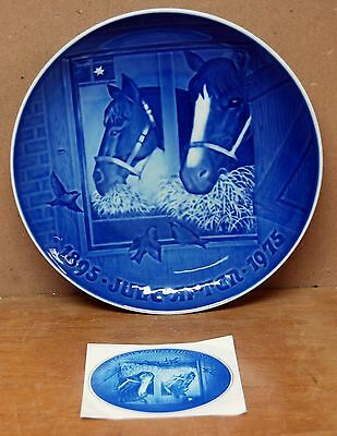 Bing & Grondahl 1895-1975 Commemorative Plate - Christmas Night in the Stable