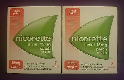 NICORETTE  15mg  ( 14 Patches )  STEP 2  Nicotine Replacement  Stop Smoking Aid