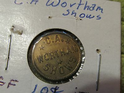 C. A. Wortham Shows (Vintage Carnival Token).Good For token.