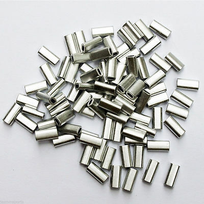 100/200/500Pcs Aluminum Alloy Crimp Sleeves Aluminum Sleeves Fishing Tackle Rigs