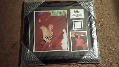 WWE Kane Money In The Bank Auto Autograph Plaque With Ladder #ed 126 of 500