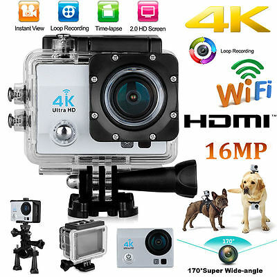 360 DEGREE 4K ULTRA HD 1080p 16MP WATERPROOF WIFI SPORTS ACTION CAMERA FOR GOPRO