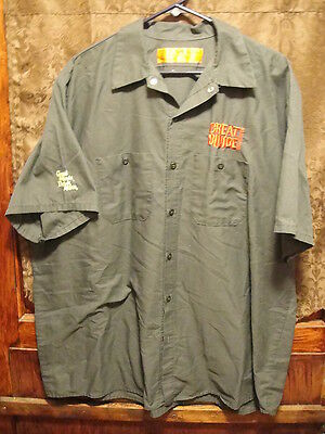 GREAT DIVIDE BREWING Men's 2XL S/SLV Red Kap Beer Delivery Guy Shirt YETI