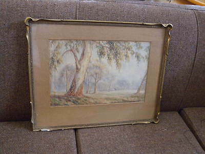 Australian Bush Water Colour Painting by H C Simpson Australian Artist Framed 19