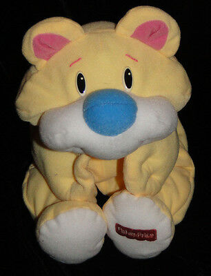 "Vintage Fisher Price Yellow Rumple Bear Plush Lovey 16"" EUC Rumples"