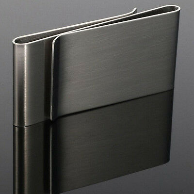 Stainless Steel Hipster Money Clip Card Holder Unisex Double Sided Holder Wallet