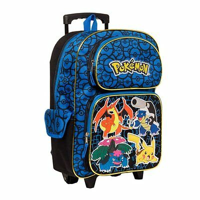 "Pokemon Characters 16"" Rolling Backpack - Kids"