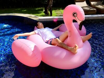 Extra Large Inflatable Float Flamingo Float Swan Swimming Pool Raft Lounge