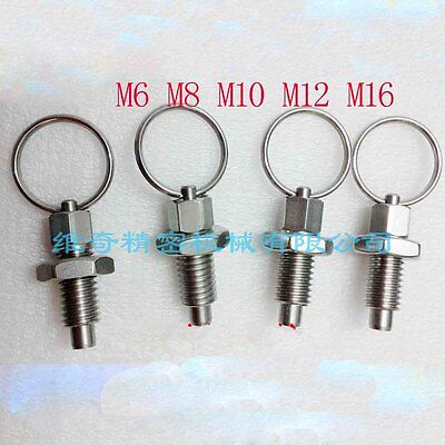 M6 M8 M10 M12 M16 pull ring indexing pin knob plunger spring positioning pins