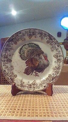 "Williams Sonoma ""PLYMOUTH TURKEY"" Plate Thanksgiving"