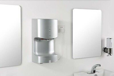 Silvery Commercial Wall Mounted Infrared Automatic Induction Hand Dryer Machine