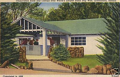 Vintage World's Largest Well Collectible Print Postcard