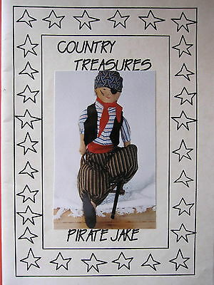 PIRATE JAKE Cloth Doll Pattern by Country Treasures