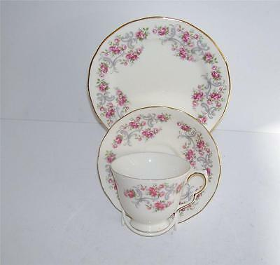 "Vintage,Shabby Chic Royal Osborne ""Pink Roses"" English Teacup,Saucer,Plate Trio."