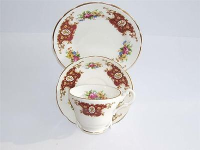 Vintage Shabby Chic Dinette English Bone China Teacup,Saucer and Plate Trio.