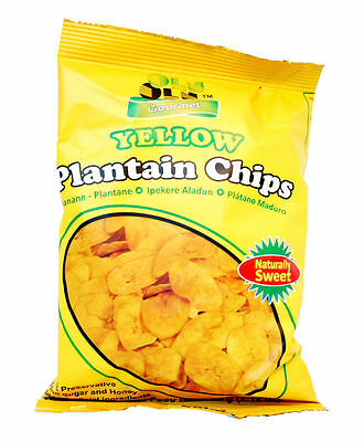 Delicious Olu Olu 100%Gourmet Natural Sweet Plantain Crisp Chips 60g (Box of 24)