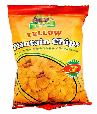 Olu Olu 100% Natual Sweet Chilli Plantain Chips 60g (Box of 24)