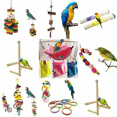 Pet Swing Bird Toy Parrot Rope Harness Cage Toys Parakeet Cockatiel Budgie New