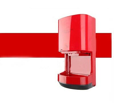 New Red Plastics Commercial Wall Mounted Automatic Induction Hand Dryer Machine