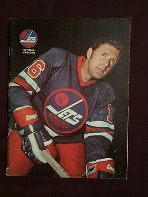 1976 Winnipeg Jets vs. Toronto Toros WHA Hockey Program Unmarked