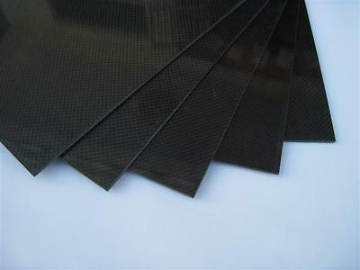 3K 100% Real Carbon Flexible Sheet 0.35mm x 200mm × 250mm: £14.75 free p&p
