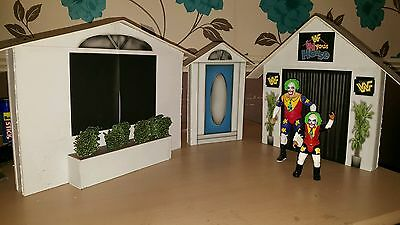 custom wwf/wwe In Your House entrance stage for wrestling figures