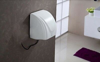 New White Wall Mounted Automatic Induction Quick Drying Hand Dryer Machine #