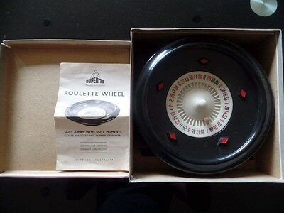 Vintage Duperlite Roulette Wheel with Cloth