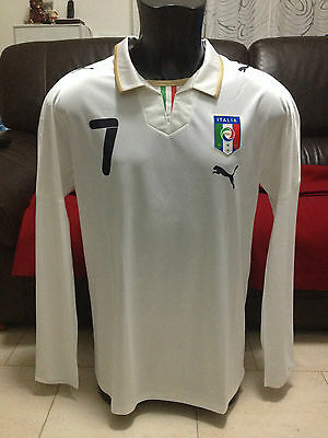 MAGLIA SHIRT JERSEY PUMA ITALIA ITALY 2010 PLAYER ISSUE tg L #7 DEL PIERO NEW
