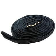 Hy Soft Webbing Lunge Rein - Black - 25' - Horse Equestrian Lunge Lines