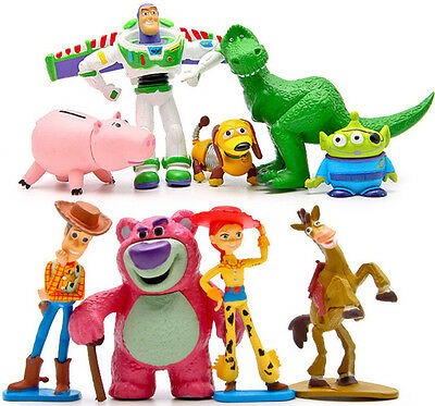 9pcs Woody Toy Story 3 Jessy Buzz Lightyear Actionfigur Figuren Spielzeug Toys