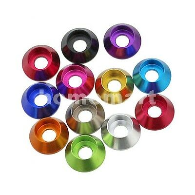 NEW 2.5MM M2.5 Aluminum Socket Hex Cup Head Washer Screw Bolt Washer Multi-Color