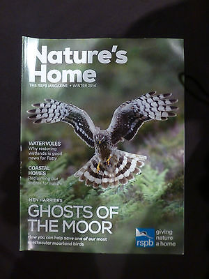 Nature's Home, Winter 2014, The RSPB magazine,  Hen Harriers, Ghosts of the Moor