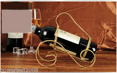 New European Simplicity Decoration Golden 1 Bottle Wrought Iron Wine Rack &$