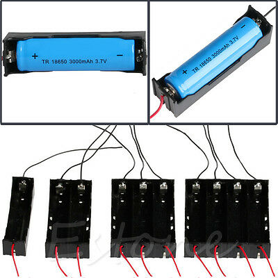 1x - 4x 18650 Rechargeable Battery Plastic Battery Holder Storage Box Case