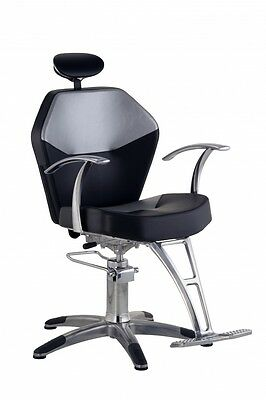 Hydraulic Romana Styling Fixed Back Saloon Chair with Aluminium Footbase