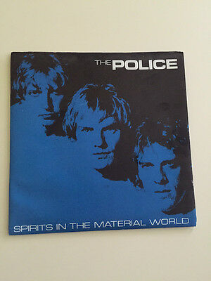 """THE POLICE Spirits In The Material World Poster Sleeve &  Pic Cover UK 7"""" Vinyl"""