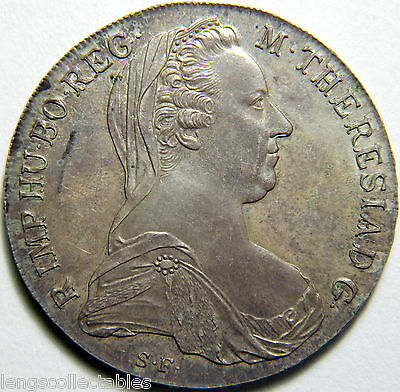 Deceased Estate 1780 Austria Maria Theresa Thaler Silver Coin Early Edition